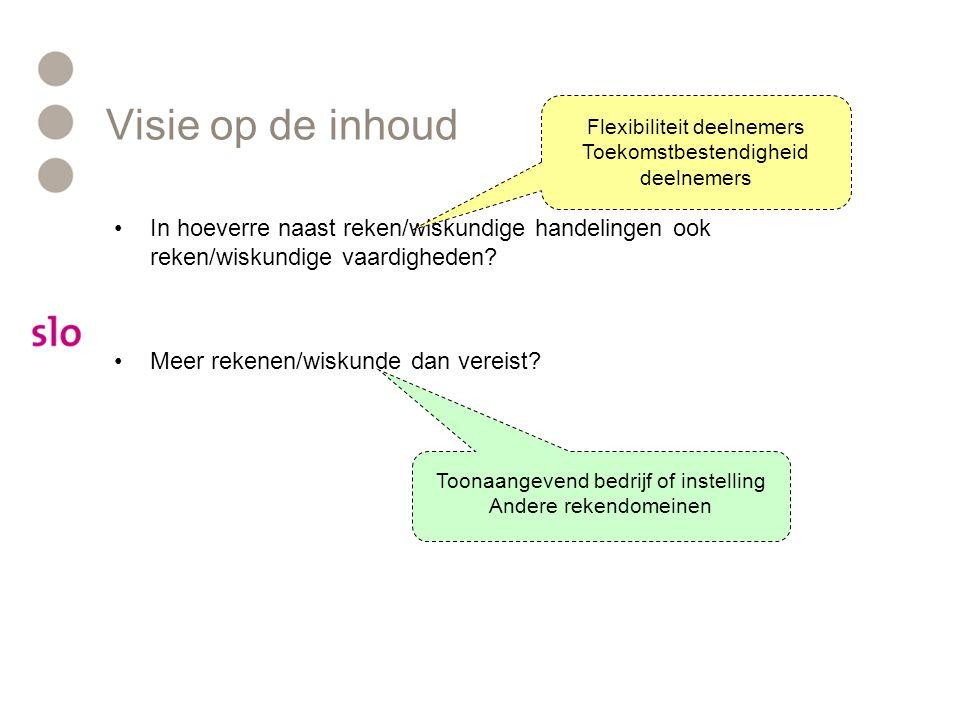 Visie op de inhoud Flexibiliteit deelnemers