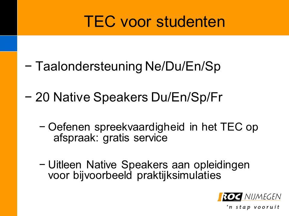 TEC voor studenten Taalondersteuning Ne/Du/En/Sp