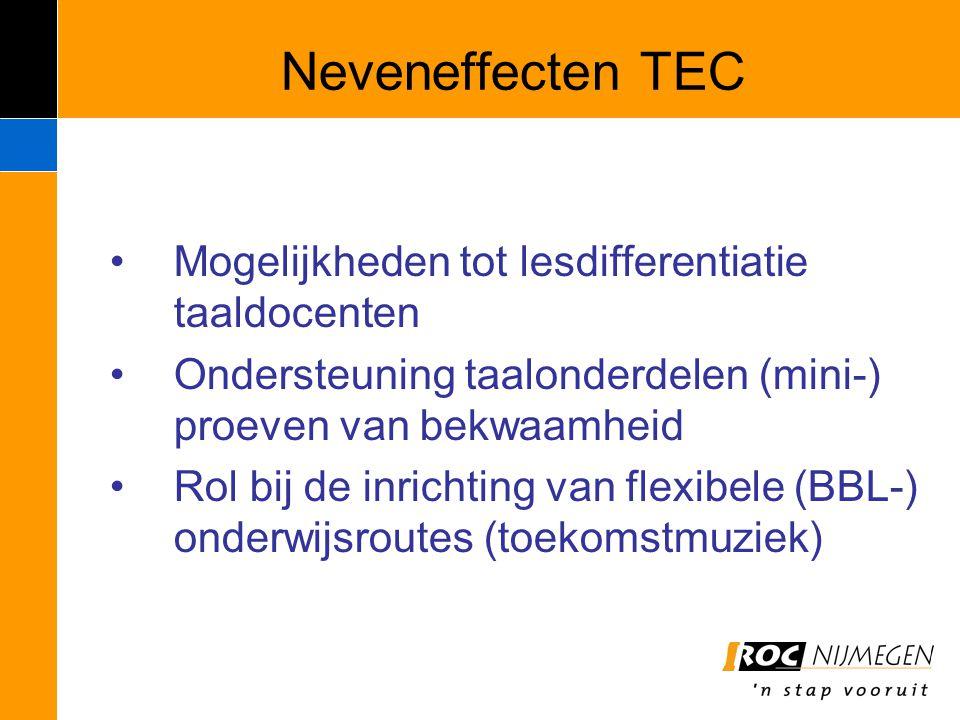 Neveneffecten TEC Mogelijkheden tot lesdifferentiatie taaldocenten