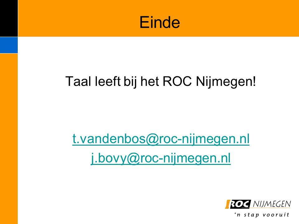 Taal leeft bij het ROC Nijmegen!