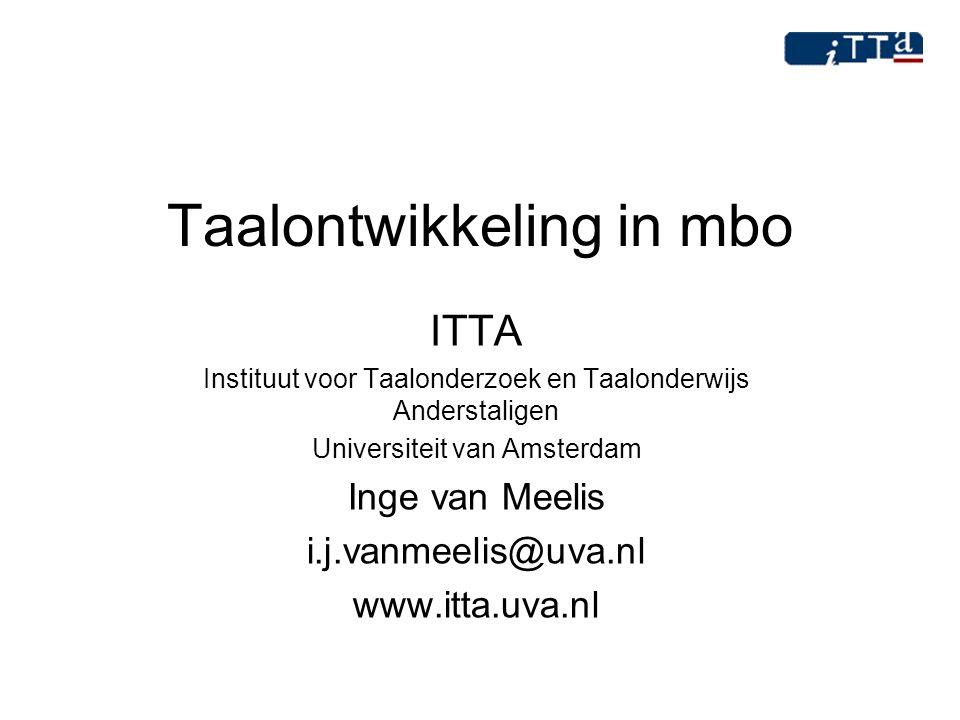 Taalontwikkeling in mbo