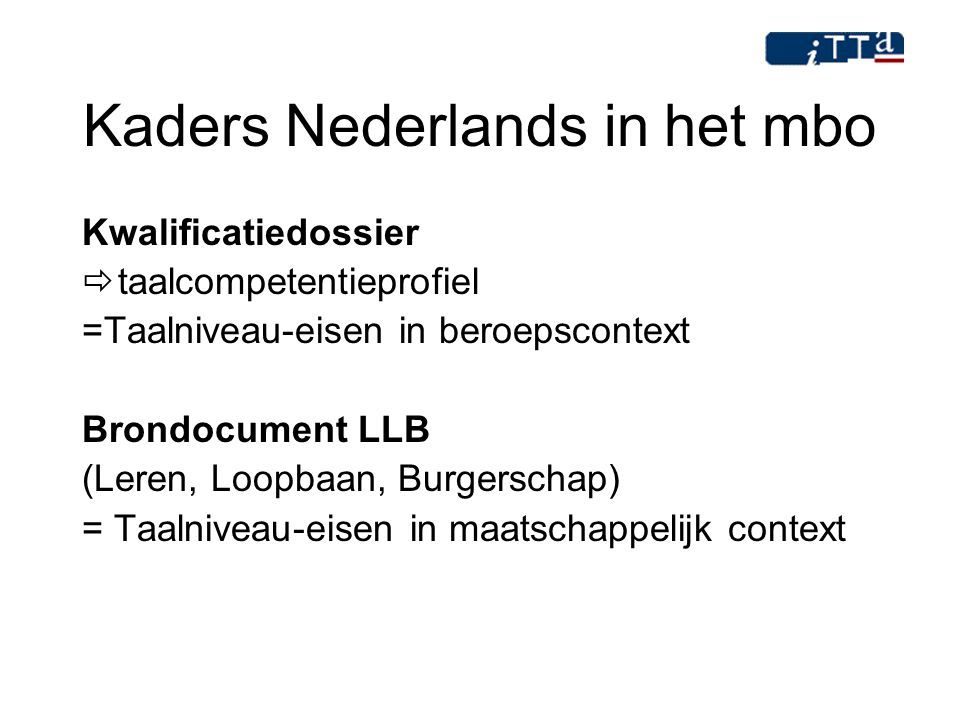 Kaders Nederlands in het mbo