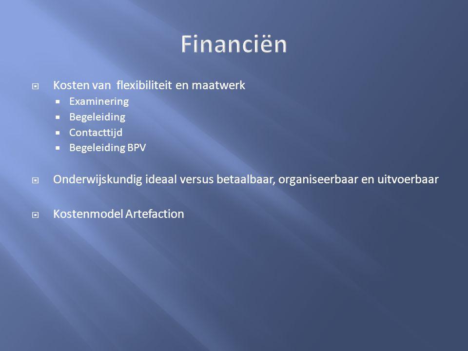 Financiën Kosten van flexibiliteit en maatwerk
