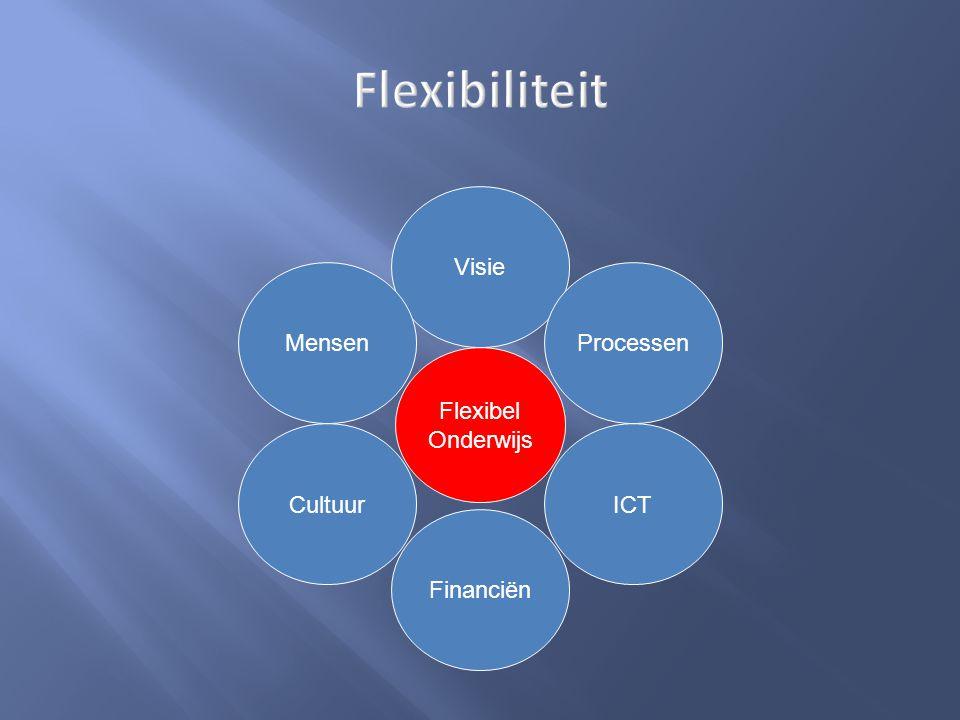 Flexibiliteit Visie Mensen Cultuur Processen Financiën ICT Flexibel