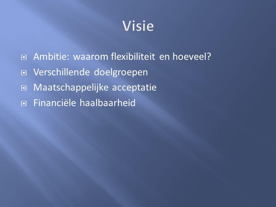 Visie Ambitie: waarom flexibiliteit en hoeveel
