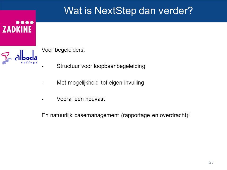 Wat is NextStep dan verder