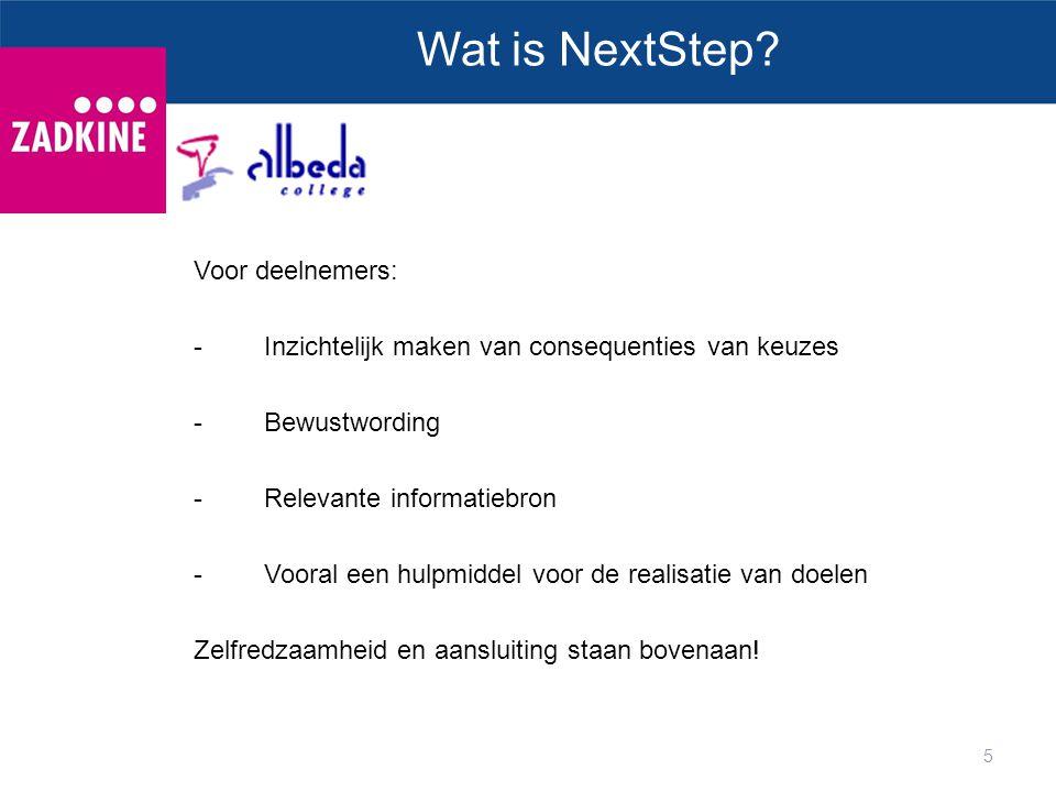 Wat is NextStep Voor deelnemers: