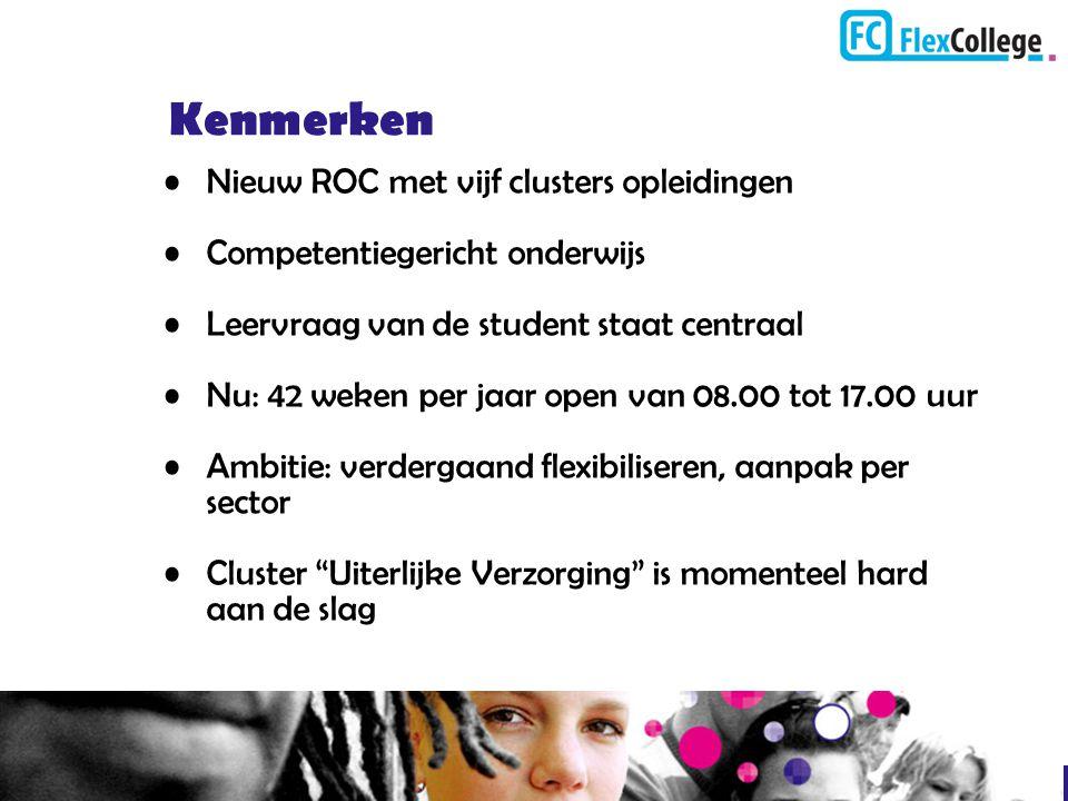 Kenmerken Nieuw ROC met vijf clusters opleidingen