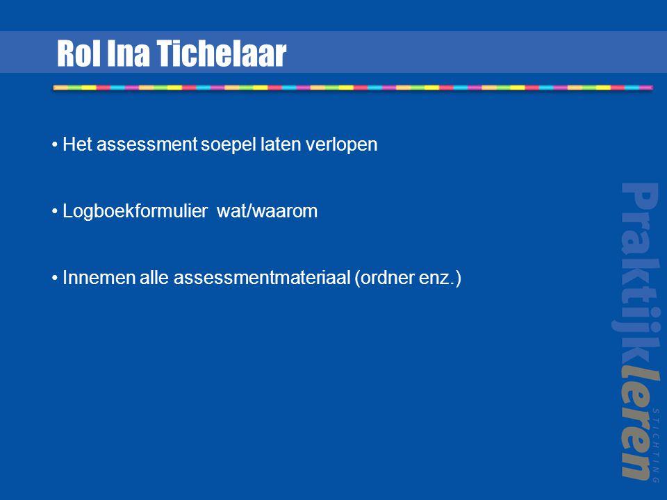 Rol Ina Tichelaar Het assessment soepel laten verlopen