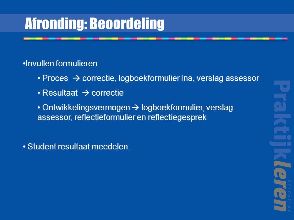 Afronding: Beoordeling