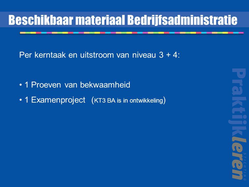 Beschikbaar materiaal Bedrijfsadministratie