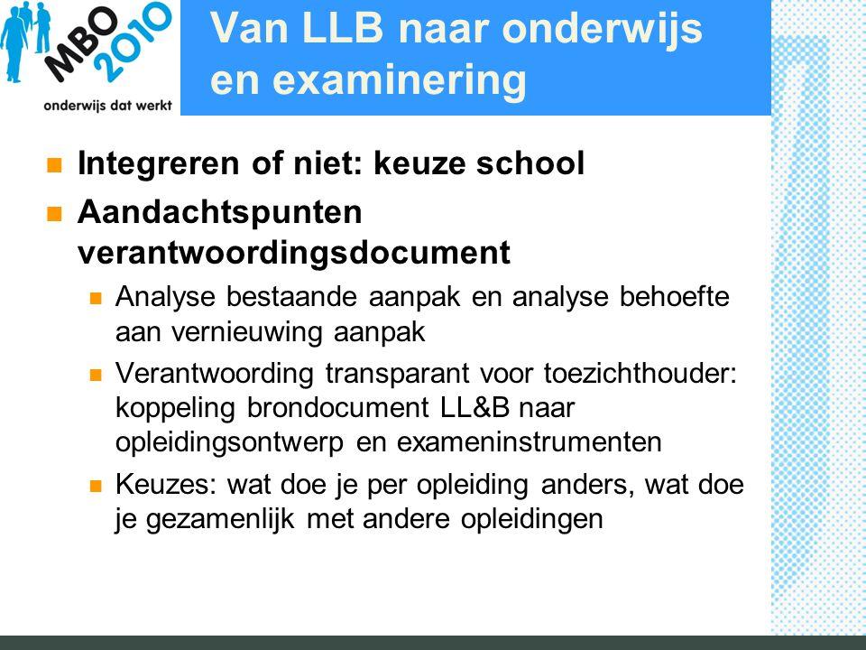 Van LLB naar onderwijs en examinering