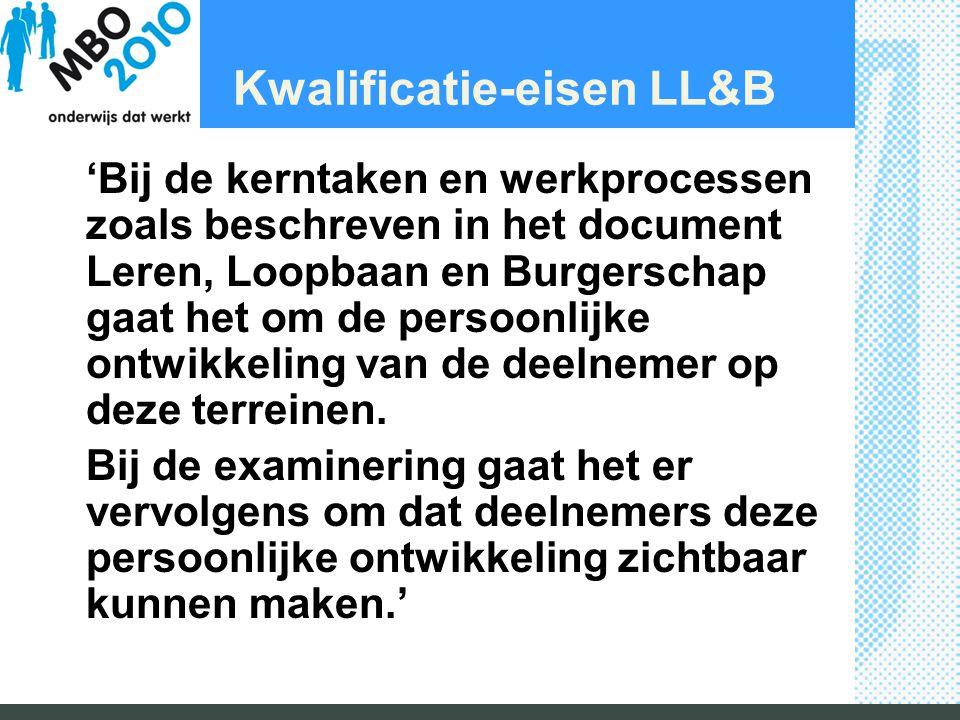 Kwalificatie-eisen LL&B