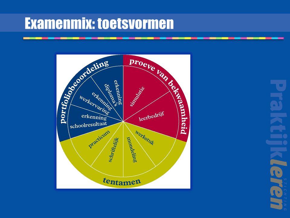 Examenmix: toetsvormen