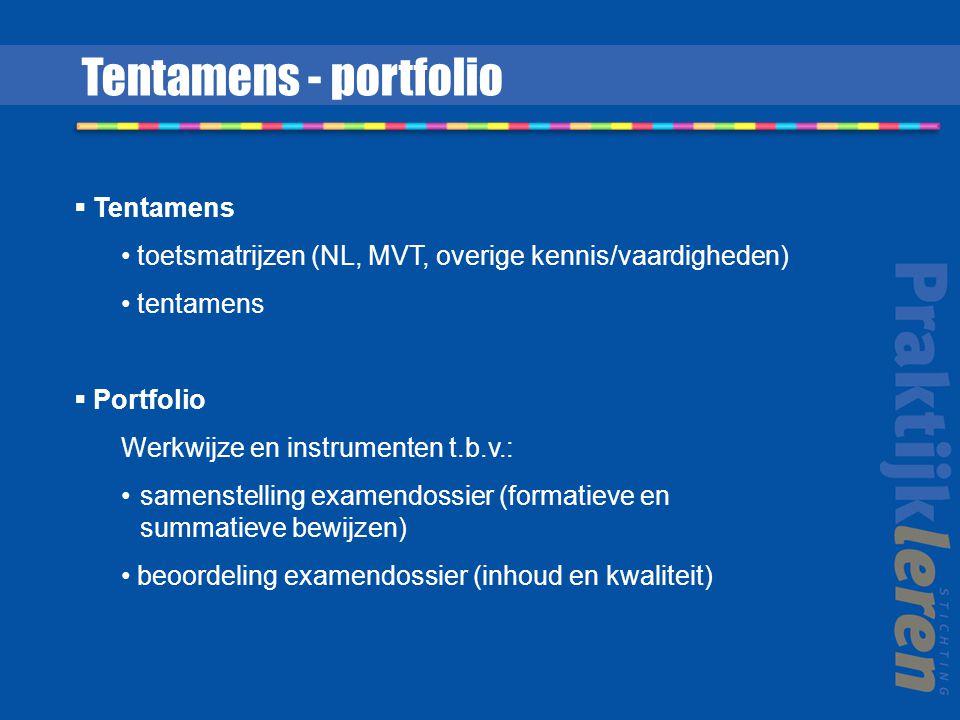 Tentamens - portfolio Tentamens