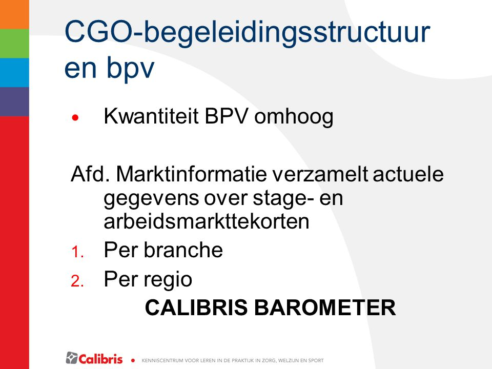 CGO-begeleidingsstructuur en bpv