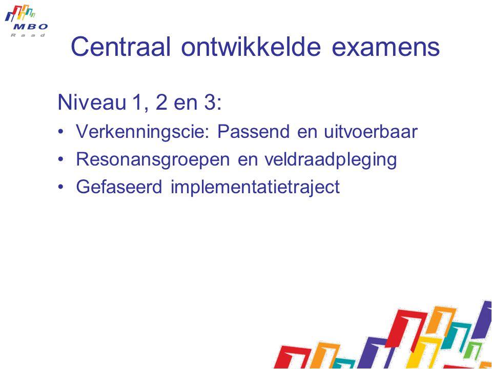 Centraal ontwikkelde examens