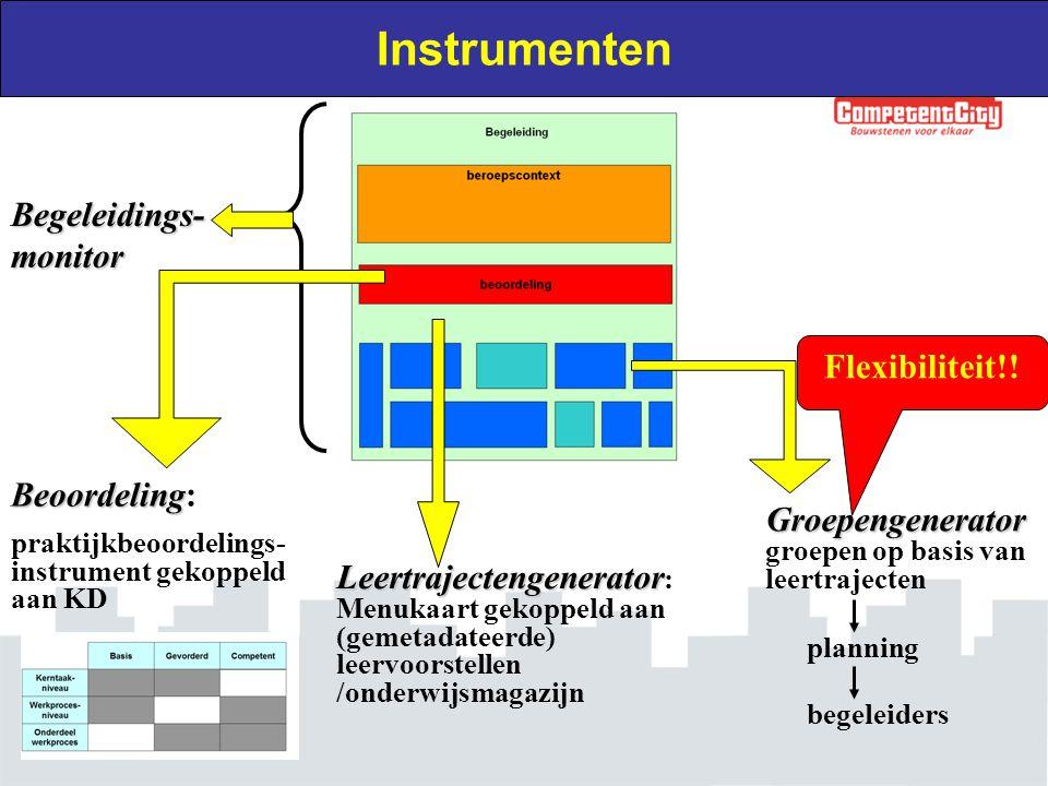 Instrumenten Begeleidings-monitor Flexibiliteit!! Beoordeling: