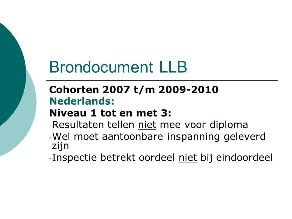 Brondocument LLB Cohorten 2007 t/m 2009-2010 Nederlands: