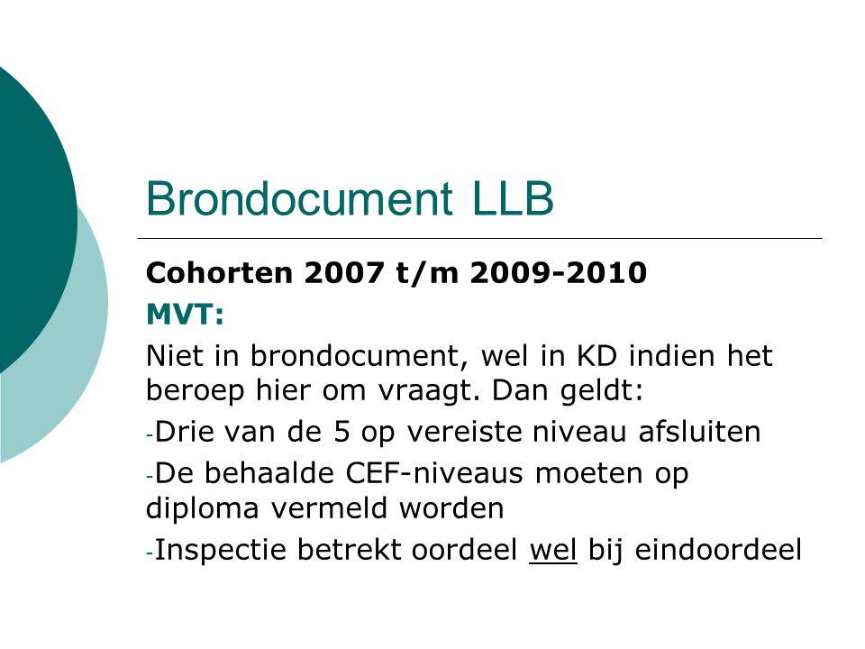 Brondocument LLB Cohorten 2007 t/m 2009-2010 MVT: