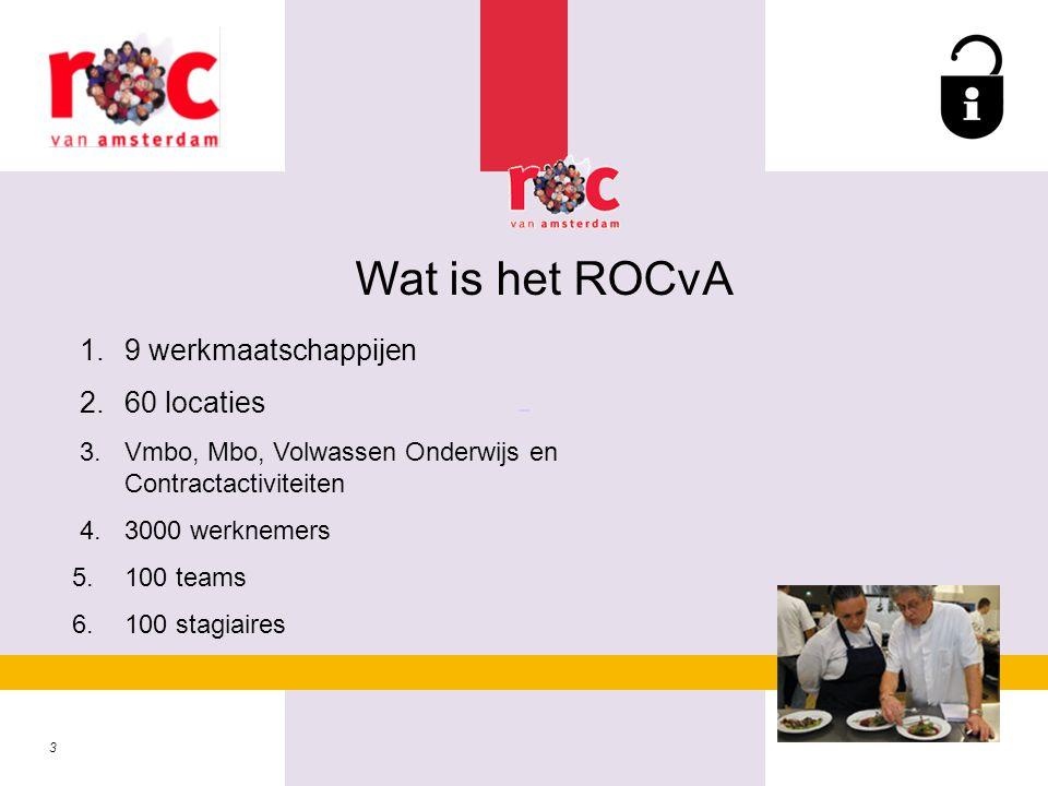 Wat is het ROCvA 1. 9 werkmaatschappijen 2. 60 locaties