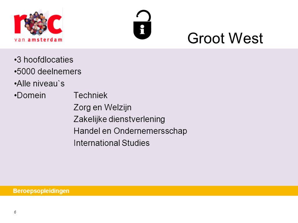 Groot West 3 hoofdlocaties 5000 deelnemers Alle niveau`s