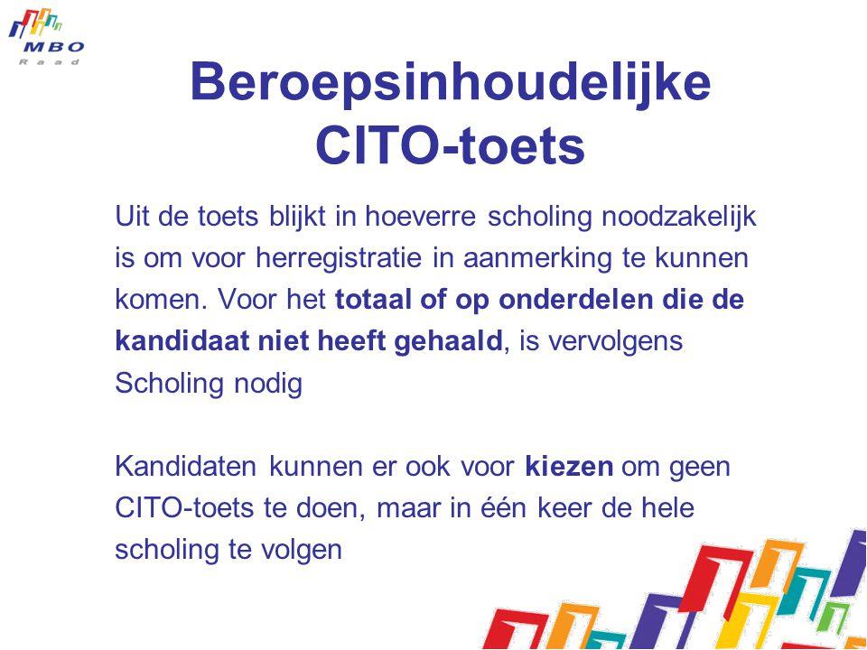 Beroepsinhoudelijke CITO-toets