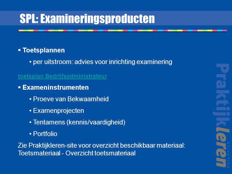 SPL: Examineringsproducten