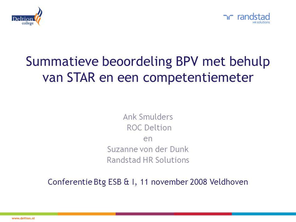 Summatieve beoordeling BPV met behulp van STAR en een competentiemeter