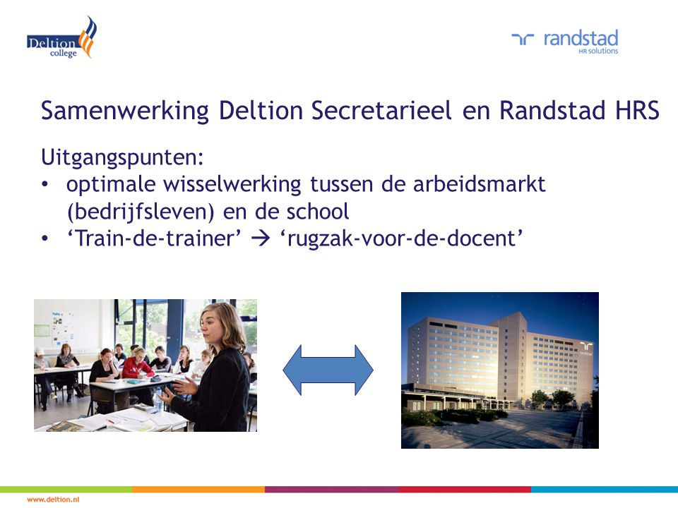Samenwerking Deltion Secretarieel en Randstad HRS