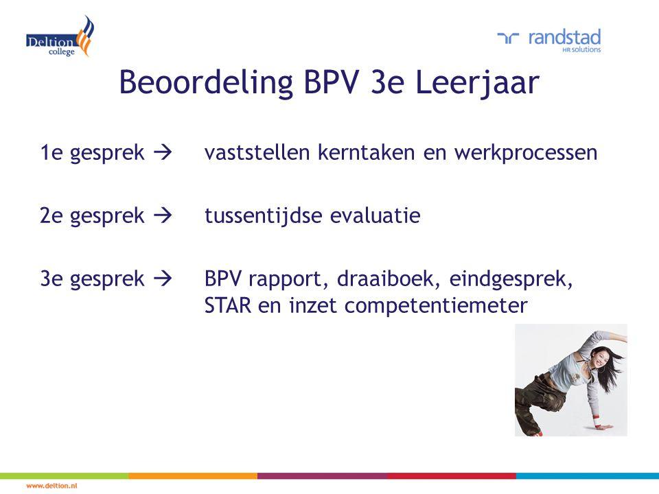 Beoordeling BPV 3e Leerjaar