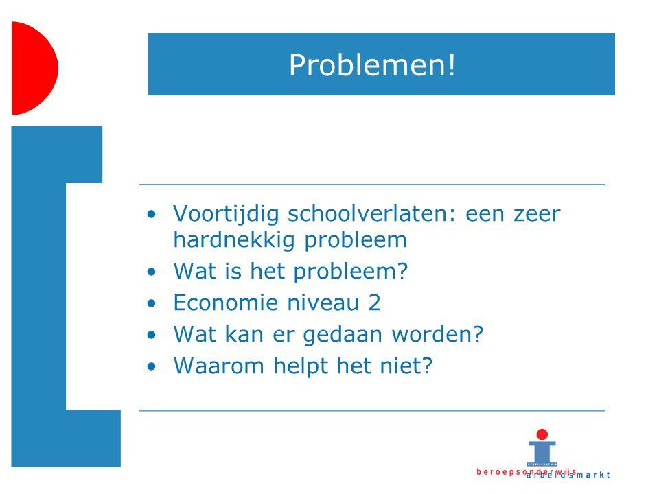 Problemen! Voortijdig schoolverlaten: een zeer hardnekkig probleem