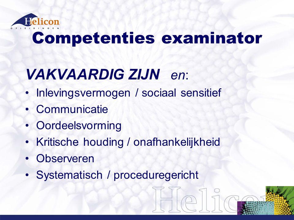 Competenties examinator