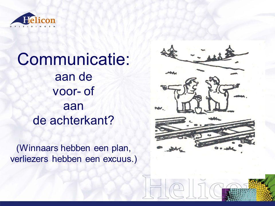Communicatie: aan de voor- of aan de achterkant