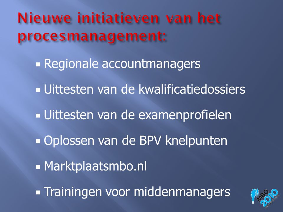 Nieuwe initiatieven van het procesmanagement: