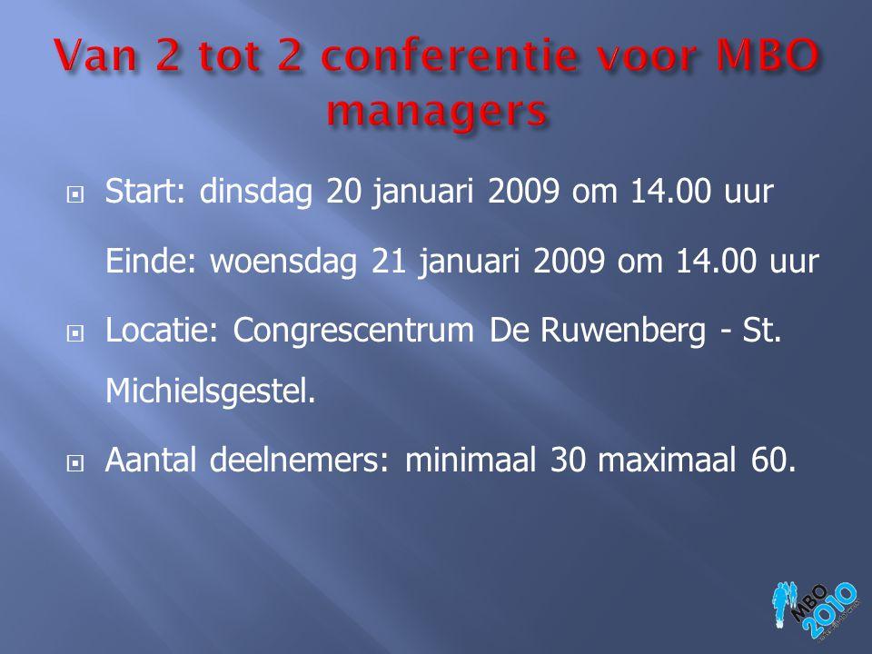 Van 2 tot 2 conferentie voor MBO managers