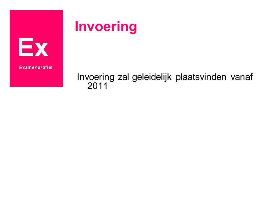 Invoering Invoering zal geleidelijk plaatsvinden vanaf 2011