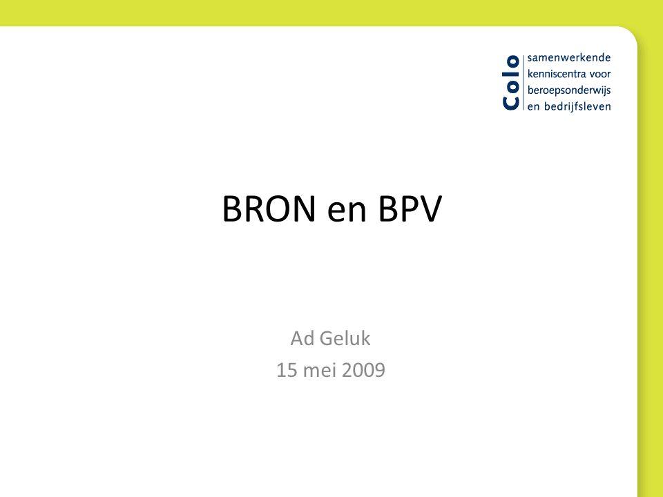 BRON en BPV Ad Geluk 15 mei 2009