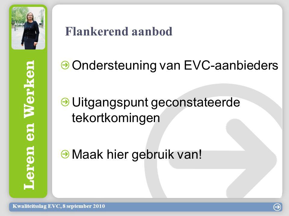 Ondersteuning van EVC-aanbieders