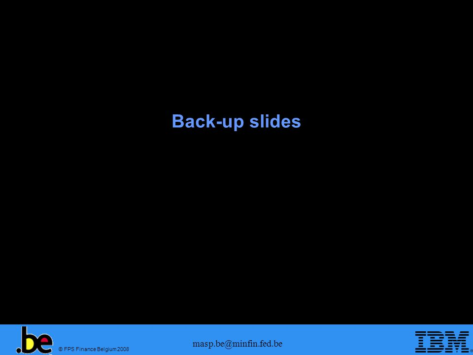 Back-up slides masp.be@minfin.fed.be