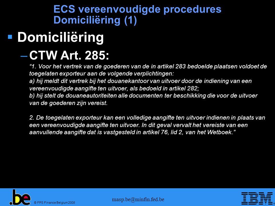 ECS vereenvoudigde procedures Domiciliëring (1)