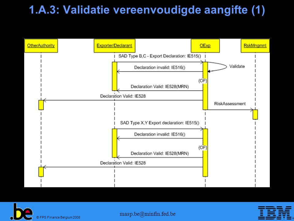 1.A.3: Validatie vereenvoudigde aangifte (1)