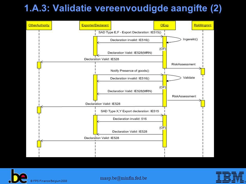 1.A.3: Validatie vereenvoudigde aangifte (2)