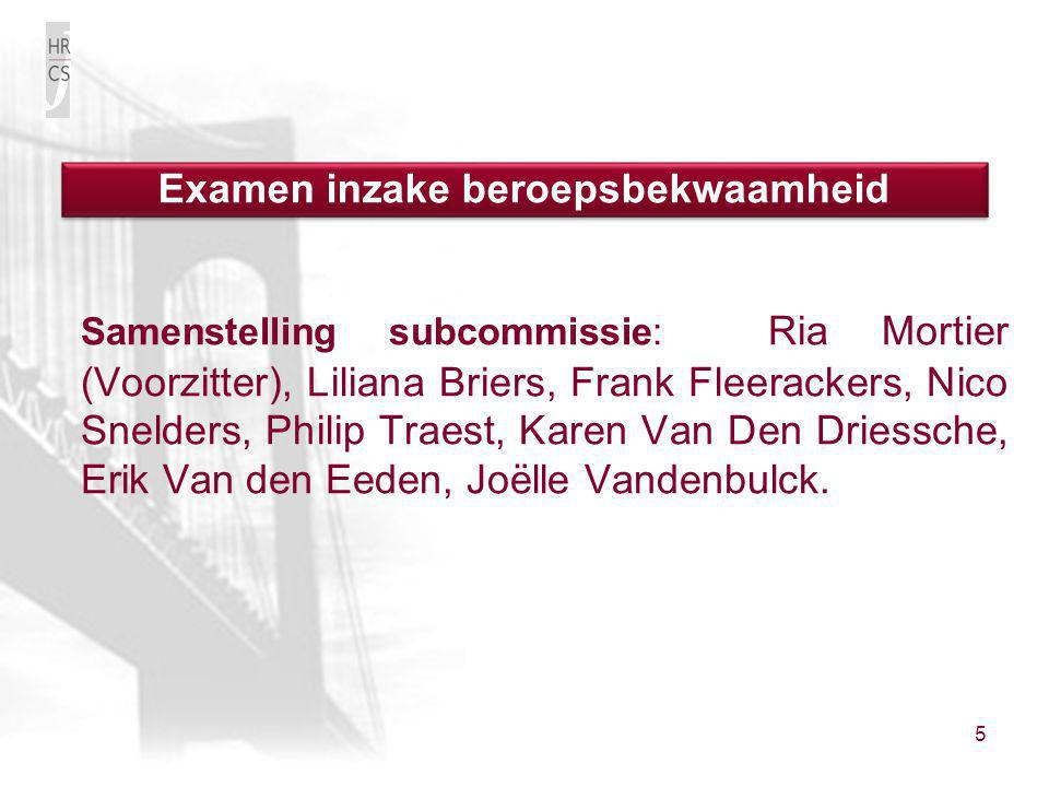 Examen inzake beroepsbekwaamheid