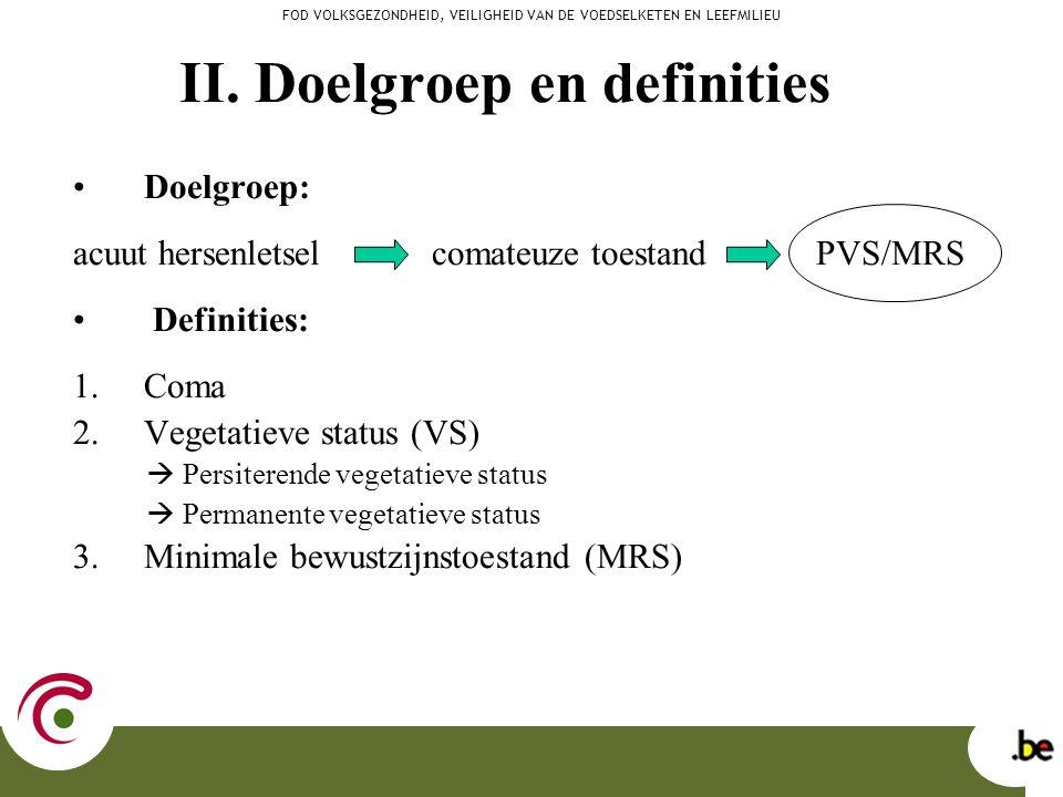 II. Doelgroep en definities