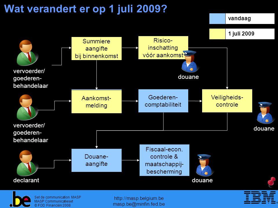Wat verandert er op 1 juli 2009