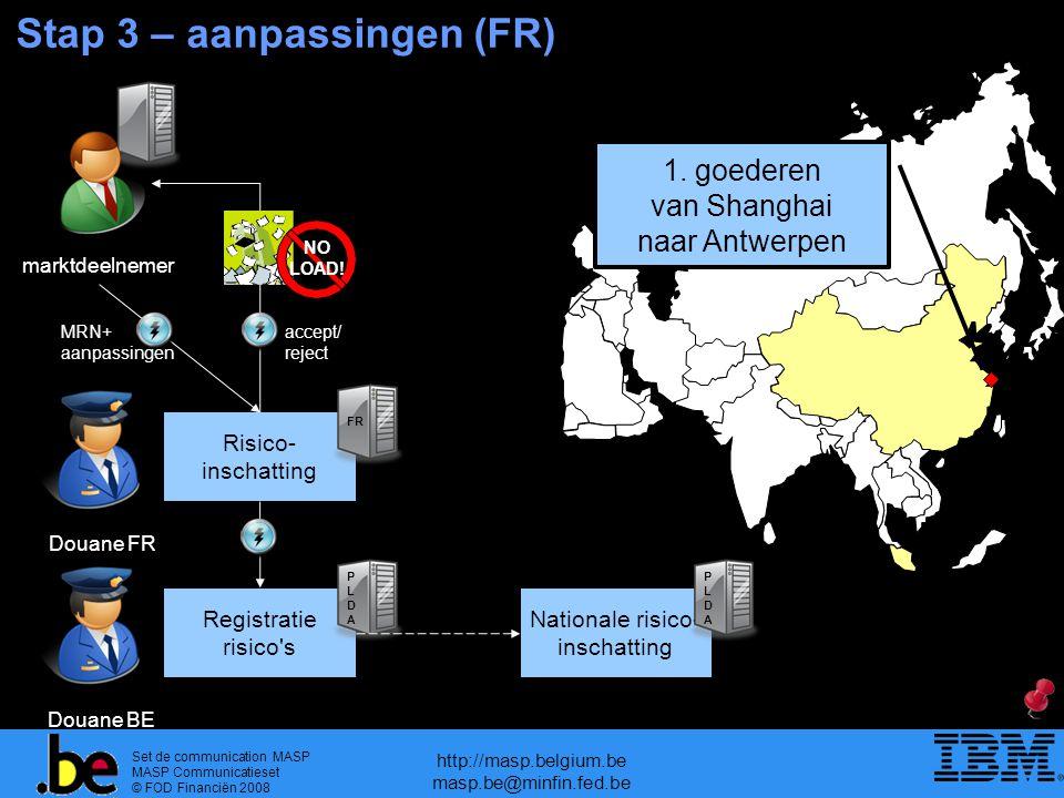 Stap 3 – aanpassingen (FR)