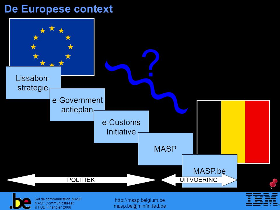De Europese context Lissabon- strategie e-Government actieplan