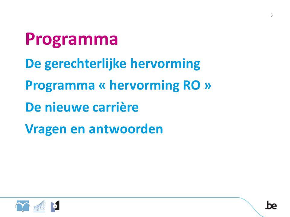Programma De gerechterlijke hervorming Programma « hervorming RO »
