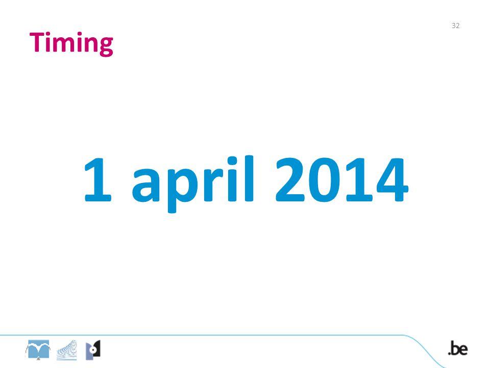 Timing 32 1 april 2014